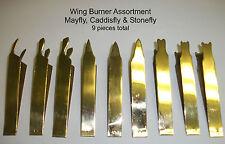 Wing Burners - Brass 9 piece Set - Fly Tying Mayfly Caddis Stonefly