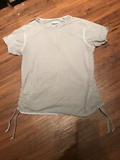 Columbia GRT Women's Short Sleeve Shirt Gray with tassels Size: Medium M