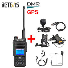 New Retevis RT82 DMR GPS 2Way WalkieTalkie UHF/VHF IP67 Waterproof+Accessories