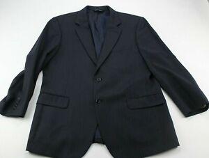 JOS A BANK Signature Collection Wool Blue Light Stripe Suit Jacket Blazer Sz 43R