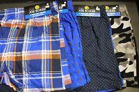 2 PK JOE BOXER Knit Boxer Shorts Men's 100% Cotton Boxer Brie S 28-30 Trunks