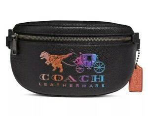 Coach Rexy and Carriage Black Multi Belt Bag