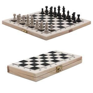 Schach Schachbrett Holz Schachspiel klappbares Brett Holzbox Reiseschach