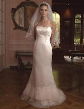 Gorgeous Casablanca Bridal Gown Style 1804, Ivory w/Gold, Crystals & Beads  NWOT