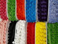 Pom Pom Trim Total Width 30mm  Luxury Feel 18 Colours  cut to Order