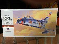 Hasegawa US Air Force F-86f-30 Sabre Jet Model Airplane Kit Pt13 3200