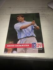 Keith Clearwater Signed 1992 Golf Card