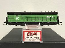 ATLAS  N-SCALE    BURLINGTON NORTHERN  #6022 SD7  DIESEL MODEL