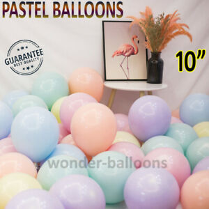 "100 Quality Pastel Finish 10"" INCH Small Round Latex Balloons Choose Colours UK"