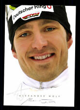 Alexander Wolf Autogrammkarte Original Signiert Biathlon + A 134242