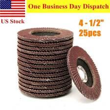"""25pcs 4-1/2"""" x7/8"""" Flap Disc 40 Grit 4.5"""" Grinding Sanding Wheels Aluminum Oxide"""