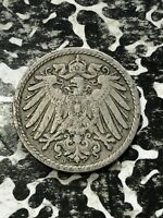 1 Coin Only 1906-F Germany 5 Pfennig 3 Available Circulated