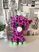 "TY Beanie boo Unicorn Pink Purple Green soft toy 11"" plush silky"