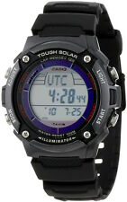 Casio WS200H-1BV Mens SOLAR POWER Watch 4 Alarms 100M WR World Time LED New
