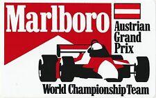 Original Marlboro campeonato del mundo F1 Team GP austríaco período Pegatina adesivo