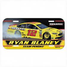 Ryan Blaney #12 Menards Plastic License Plate NASCAR