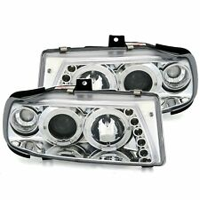 2 PHARES ANGEL EYES SEAT IBIZA CORDOBA 6K CHROME CRISTAL LED 07/1996-07/1999
