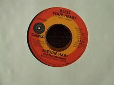 "FREDDIE HART Bless Your Heart/Conscience Makes Cowards 7"" 45 early-70's country"