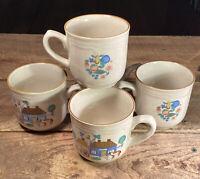 International Tableworks Heartland Village 105 Set of 5 Coffee Mugs Stoneware