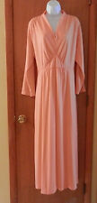 Vintage Mod Peach Maxi Dress