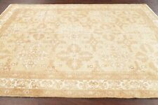 One-of-Kind Vintage MUTED Ferdos Area Rug Hand-Knotted Oriental Wool Carpet 6x9