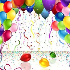 Happy Birthday Sequins Balloons Party Backdrop 8x8ft Background Prop Photography