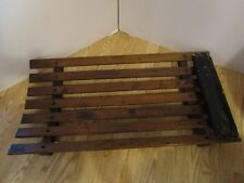 "Antique curved OAK slats Wood Mechanics Roller Creeper Rat Rod Shop 1920's 36"" L"