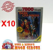 10X ATARI 7800 CIB GAME BOX - CLEAR PLASTIC PROTECTIVE BOX PROTECTOR SLEEVE CASE