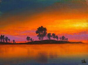MAX COLE Oil Painting Original Vintage Antique Like Landscape Signed Canvas 1076