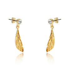 Disney Couture Kingdom Princess Gold-Plated Pocahontas Feather Earrings