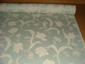 11 Metres Pergola Floral in Eau de Nil by iLiv Fabric Curtain Upholstery Cushion