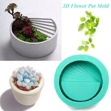 Geometric Flower Pot Silicone Molds DIY Garden Planter Concrete Vase Soap Mould