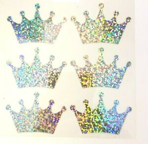 Crowns 6  Iron On, Heat Transfer Stickers ,Masks Tee Shirt, clothing, Cushions