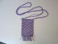 Purple Mini Beaded Evening Bag, Beaded Crossbody or Shoulder Strap, NEW