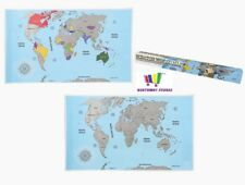 Scratch off World Map Poster Travel Holiday Adventure Log 88cm X 52cm