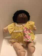 "Original Doll Baby Girl Plush by M N Thomas Vintage 1984 18"" Black Curly Hair"