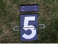 Cricket Telegraph Number Plates 1-9 & 0 & Blank x1