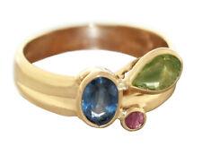 Goldring 585 Peridot Rubin Saphir Ring Gold 14 Karat Edelsteinring Damenring