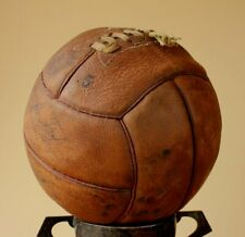 1960's Vintage Sondico Leather Football. Old Laced Soccer Ball
