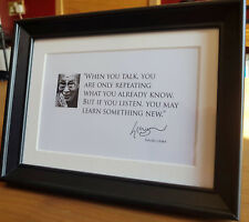 Listen and Learn something New  - Dalai Lama framed quote