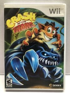 Crash of the Titans (Nintendo Wii, 2007) Clean & Tested Working - Free Ship