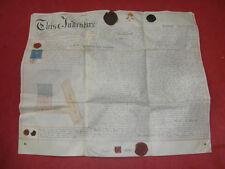 Alte Urkunde Englisch Königreich um 1800