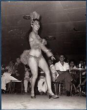 vintage large photo foto exotic burlesque cabaret sexy girl dancer Panama c 1960