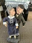 """JKC 2002 Jacqueline Kent Town Folk Old Couple """" Young Hearts"""" 14"""" Doll Figurine"""