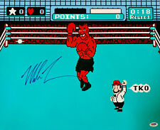 Mike Tyson Punch Out Signed 16x20 Boxing Photo - Auto PSA/DNA COA