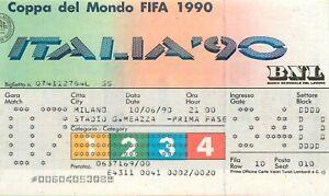 Calcio, Mondiali, Italia '90 - Biglietto partita Germania Yugoslavia, Milano