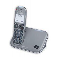 amplicomms PowerTel 1700 Schnurloses Großtastentelefon Seniorentelefon, grau