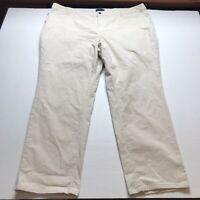 Talbots Size 24W Simply Flattering 5 Pocket Tan Corduroy Pants A1179