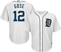 Mens Majestic Anthony Gose White Detroit Tigers Cool Base Player Jersey Large