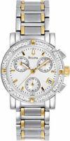 Bulova Women's Quartz Diamond Accents Date Indicator 30mm Watch 98R98